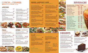 Pasadena Menu (2 of 2)